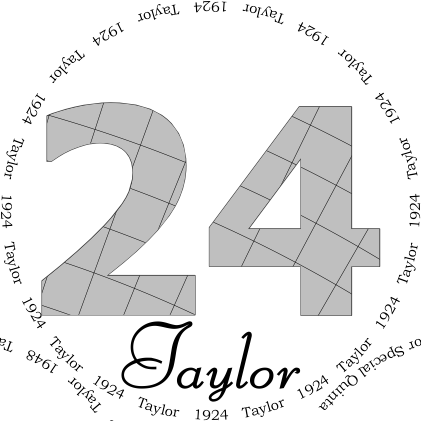 Glasses placemat: Taylor 1924