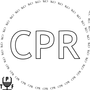 Glasses placemat: CPR