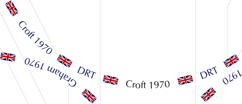 Extract from placemats showing filled foreground Union Jacks and part of a stroked backgroun Union Jack