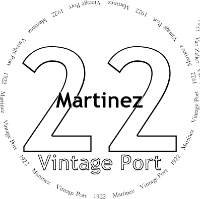 Glasses placemat: Martinez 1922