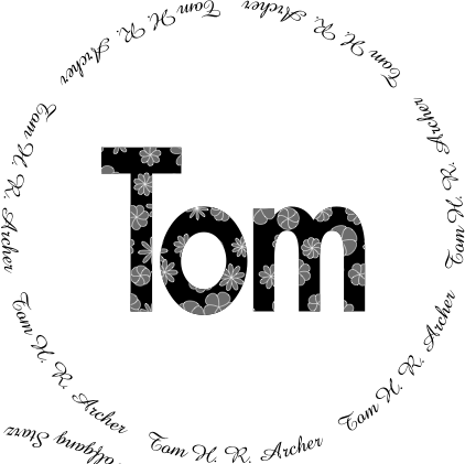 Glasses placemat: Tom